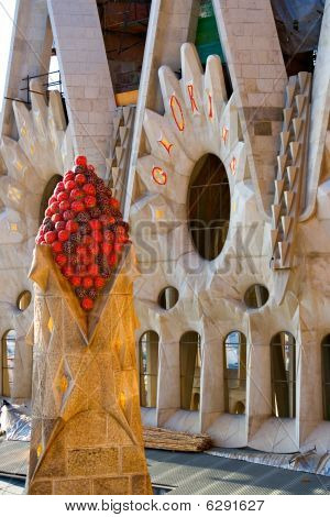 Architectural Details In Gaudi's Sagrada Familia, Barcelona