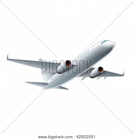 Flying Airplane Vector Illustration