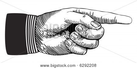 Señalando la mano