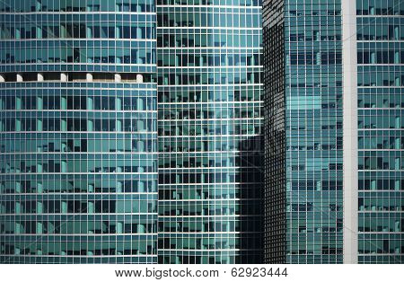Modern Office Building Glass Window  Facade Detail