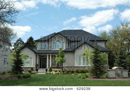 Stucco & Stone House