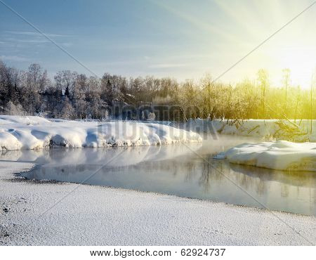 Winter Light Landscape