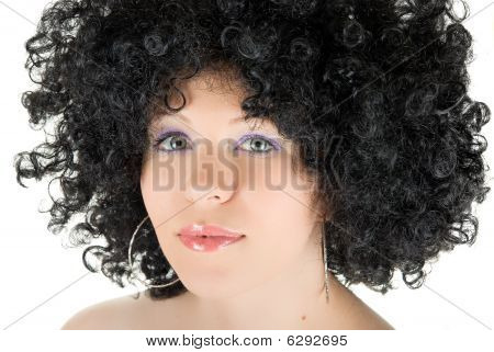 Young Frizzy Woman