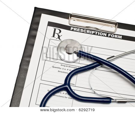 Blank Rx With Stethoscope