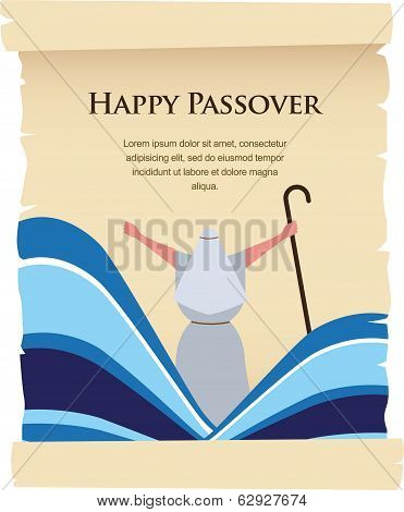 passover invitation on acient card