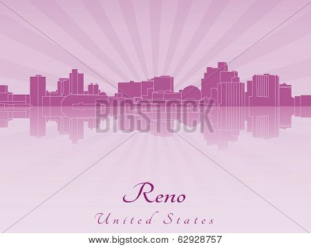 Reno Skyline In Purple Radiant Orchid