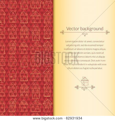 Houses pattern for template card
