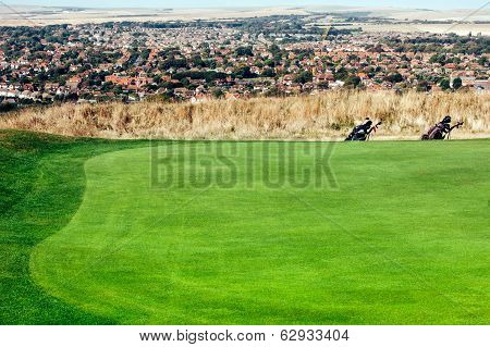 Golf Course With City View