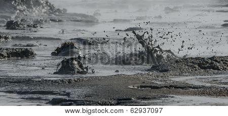 Mud Pots Bubbling