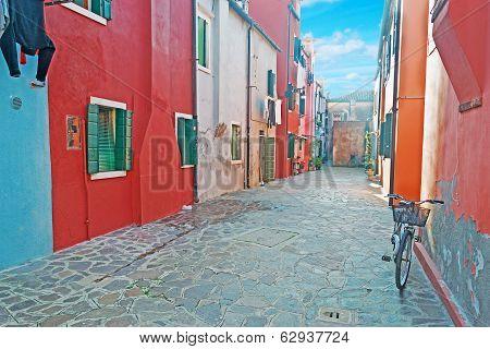 Backstreet In Burano