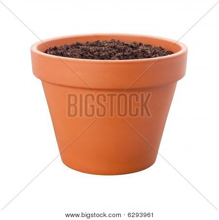 Flower Pot {with Clipping Path)