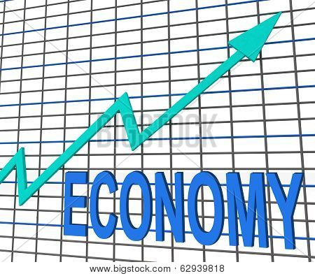 Economy Graph Chart Shows Increase Economic Fiscal Growth