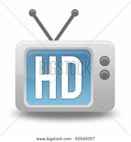 Cartoon-style Tv Icon Hd Tv