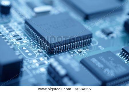 Futuristic Technology - Cool Blue Image Of A Cpu