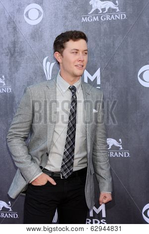 LAS VEGAS - APR 6:  Scotty McCreery at the 2014 Academy of Country Music Awards - Arrivals at MGM Grand Garden Arena on April 6, 2014 in Las Vegas, NV