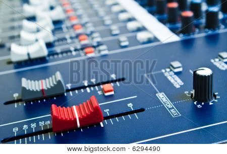 Audio Mixer Faders
