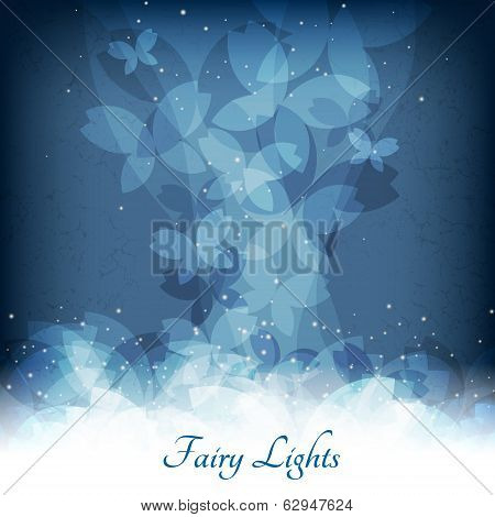 Abstract magic lights background. Good template for postcards or a bookcover