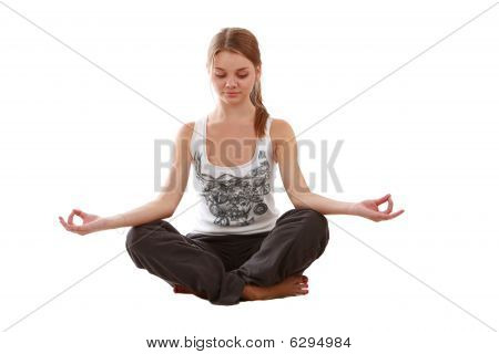 Girl Engaged Yoga