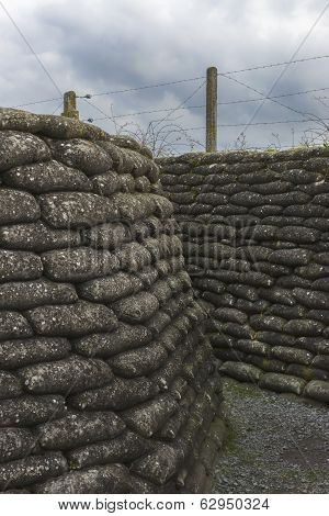World War I Trench In Flanders, Near Diksmuide.
