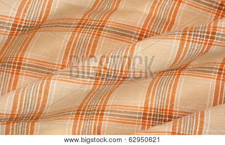 Wrinkly plaid cloth