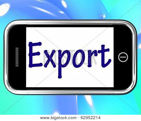 Export Smartphone Shows Selling Overseas Through Internet