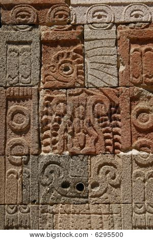"""""""palace Of The Quetzal Butterfly"""" Wall Detail In Teotihuacan Pyramid Complex, Mexico"""