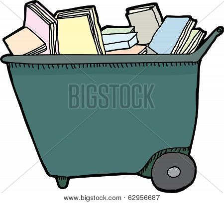 Isolated Library Cart