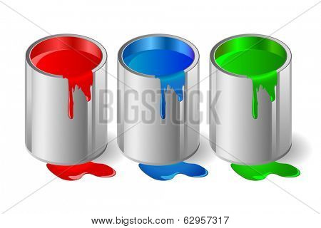 Illustration of metallic capacity with a paint.