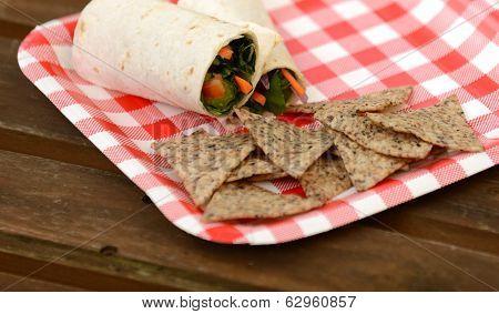 Vegan Wrap And Tortilla Chips
