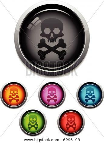 Glossy skull icon
