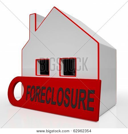 Foreclosure House Shows Repayments Stopped And Repossession By Lender