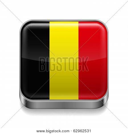 Metal  icon of Belgium