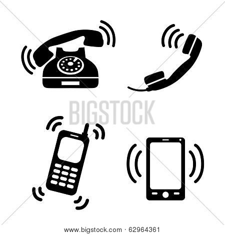 Collection of ringing phones