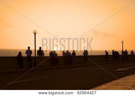 Watching the Sunset in Miraflores, Lima, Peru