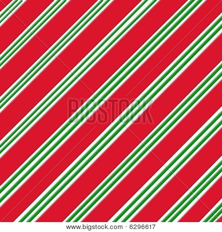 Candy Can Red Wite and Green Paper