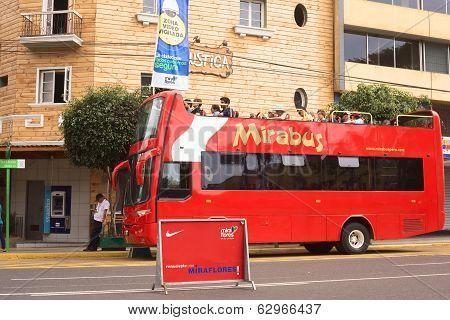 Mirabus Sightseeing Bus in Miraflores, Lima, Peru