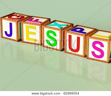 Jesus Blocks Show Son Of God And Messiah