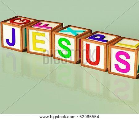 Jesus Blocks Show Son Of God And Messiah