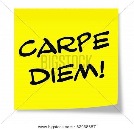 Carpe Diem Yellow Sticky Note