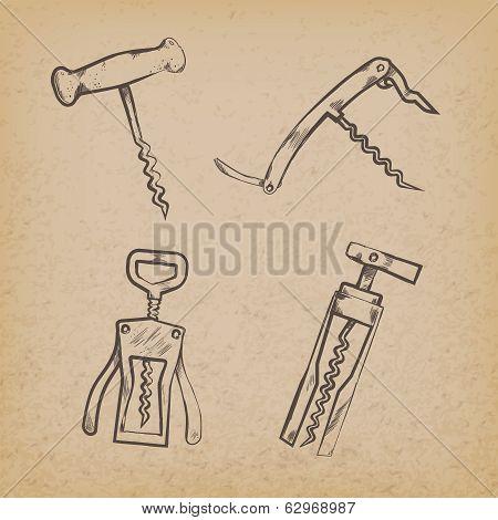 Collection of retro corkscrews
