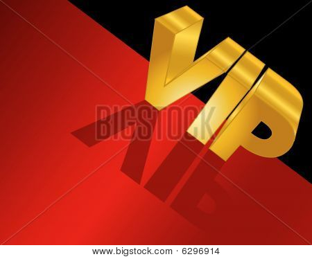 VIP letters on red carpet
