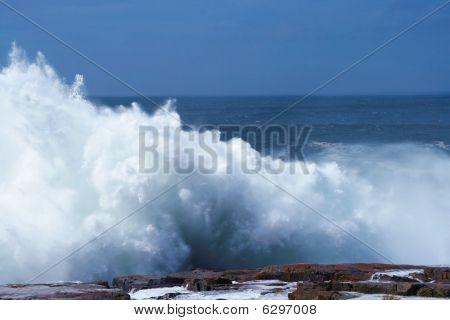 Crasging waves Schoodic Point Maine