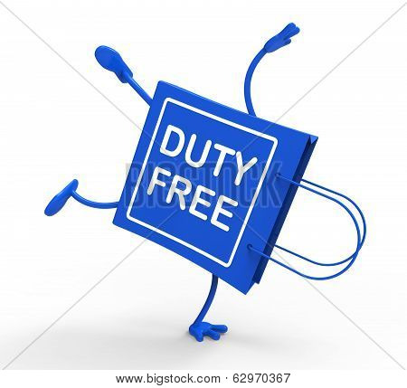 Handstand Tax Free Shopping Bag Shows Duty Purchases
