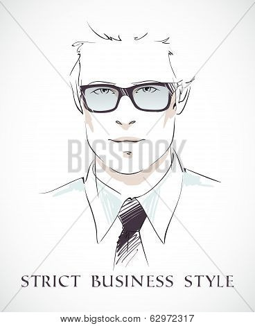 Fashion businessman portrait