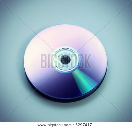Closeup Stack Of Few Compact Discs