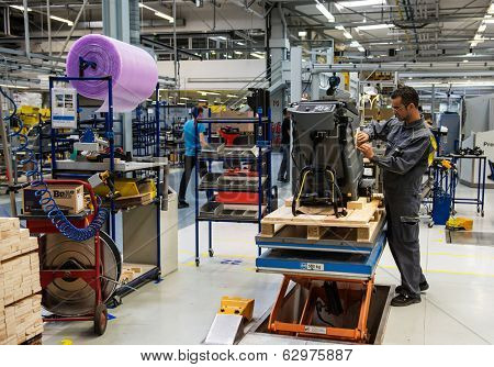 WINNENDEN, GERMANY - MARCH 01, 2014:  Machine-building plant of the company Karcher