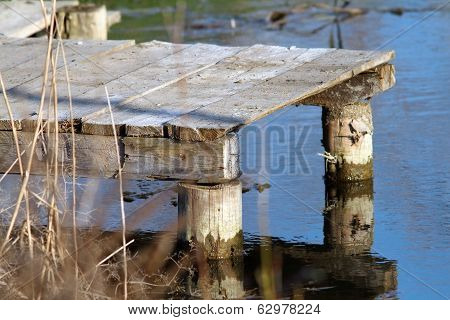 Small Wooden Pontoon