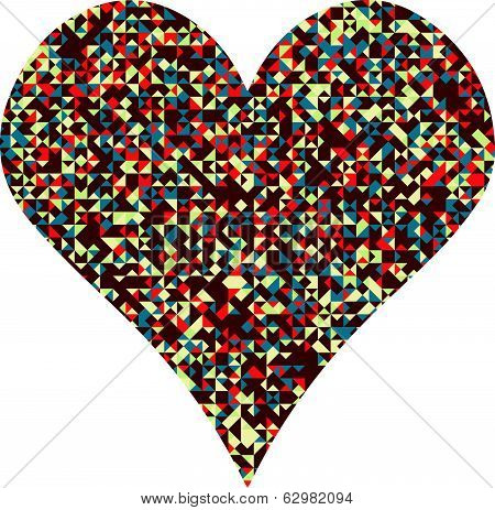 Vector Pixel Heart Illustration