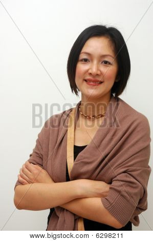 cheerful chinese lady