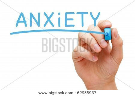 Anxiety Blue Marker